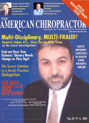 Cover for the July/August 2001 issue