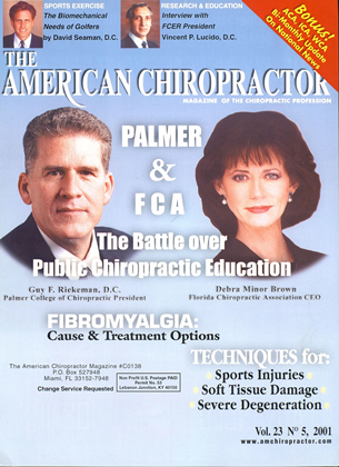 Cover for the September/October 2001 issue