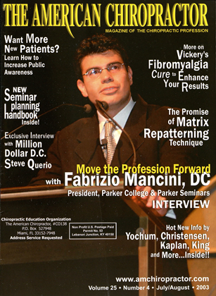 Cover for the July/August  2003 issue