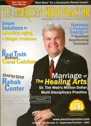 Cover for the September/October  2003 issue