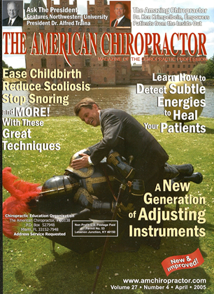 Cover for the April 2005 issue