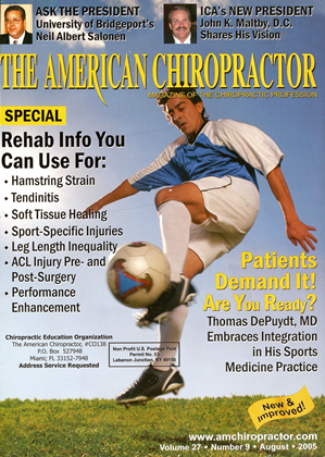 Cover for the August 2005 issue