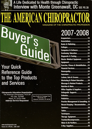 Cover for the Buyers Guide 2007 issue