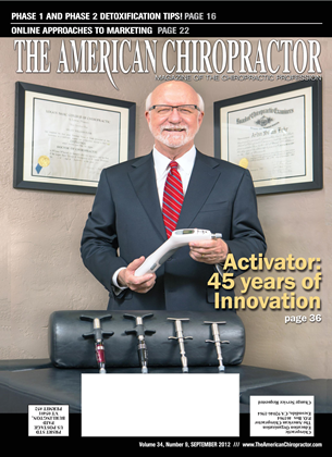 Cover for the September 2012 issue