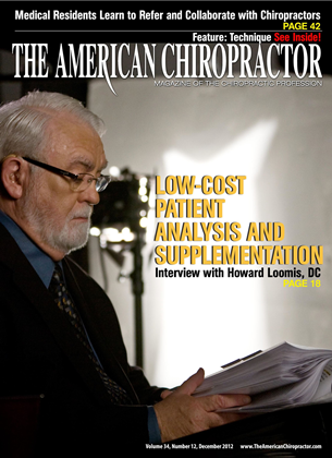 Cover for the December 2012 issue