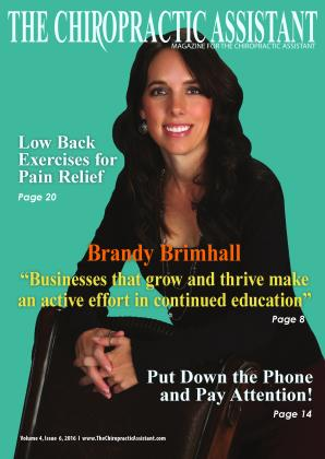Cover for the The Chiropractic Assistant: DECEMBER 2016 issue