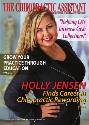 Cover for the THE CHIROPRACTIC ASSISTANT-OCTOBER 2017 issue