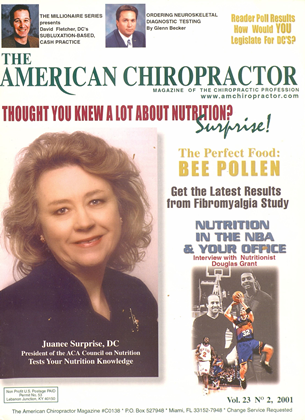 Cover for the March/April 2001 issue