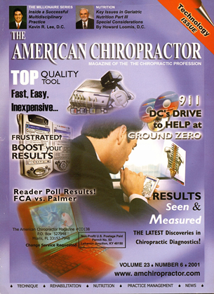 Cover for the November/December 2001 issue