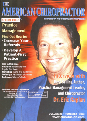 Cover for the February 2003 issue