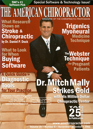 Cover for the November/December  2003 issue