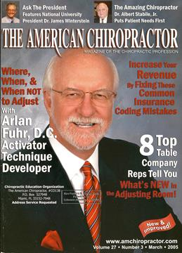 Front Cover, Page: C1 - March 2005 | American Chiropractor