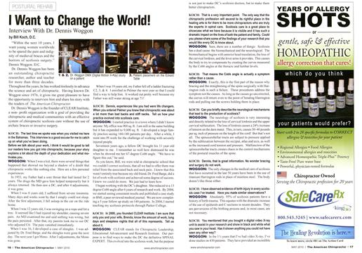 I Want to Change the World!, Page: 16 - May 2010 | American Chiropractor