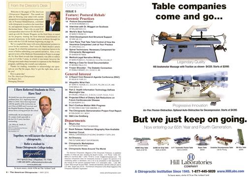 , Page: 6 - May 2010 | American Chiropractor