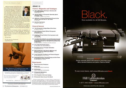 Table of Contents, Page: 6 - December 2010 | American Chiropractor