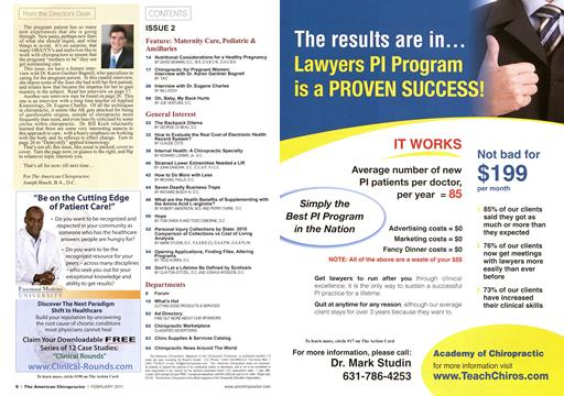 , Page: 6 - February 2011 | American Chiropractor