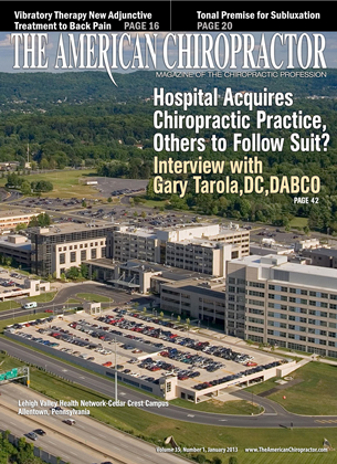 Cover for the January 2013 issue