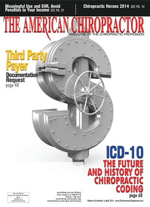 Cover for the April 2014 issue