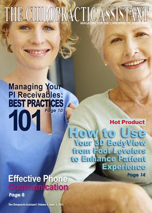 Cover for the The Chiropractic Assistant 2015 issue