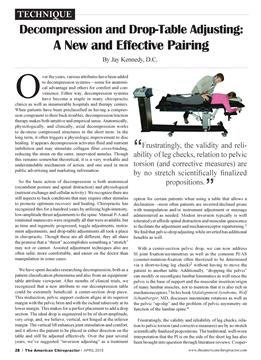 Decompression and Drop-Table Adjusting: A New and Effective Pairing, Page: 28 - APRIL 2015 | American Chiropractor