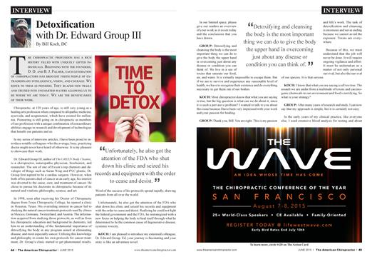Detoxification with Dr. Edward Group III, Page: 44 - JUNE 2015 | American Chiropractor