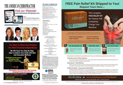 THE AMERICAN CHIROPRACTOR, Page: 4 - JUNE 2015 | American Chiropractor