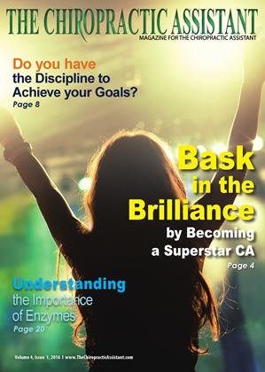 Cover for the The Chiropractic Assistant/February 2016 issue