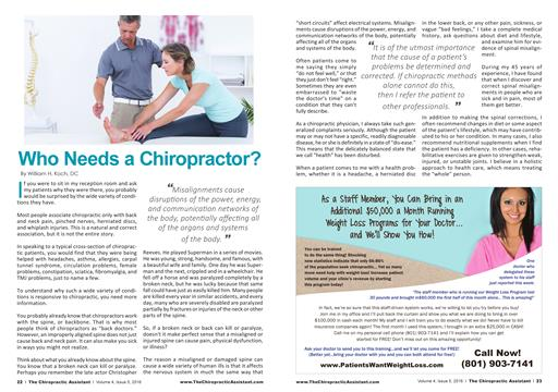 Who Needs a Chiropractor?, Page: 22 - MAY 2016 | American Chiropractor