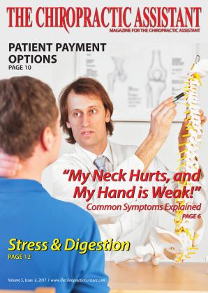 Cover for the THE CHIROPRACTIC ASSISTANT/DECEMBER 2017 issue
