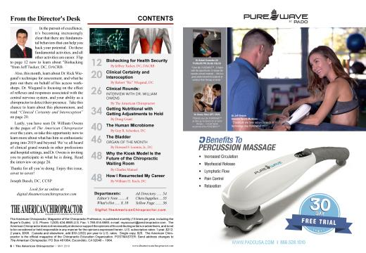 CONTENTS, Page: 6 - MAY 2019 | American Chiropractor