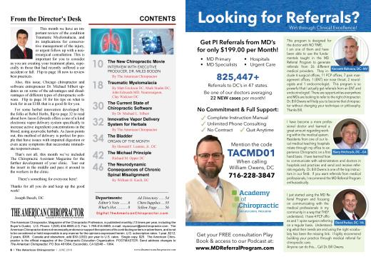 CONTENTS, Page: 6 - JUNE 2019 | American Chiropractor