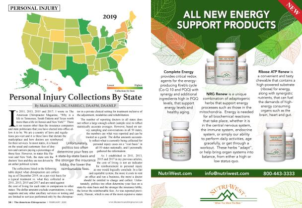 Article Preview: Personal Injury Collections By State, FEBRUARY 2020 | American Chiropractor