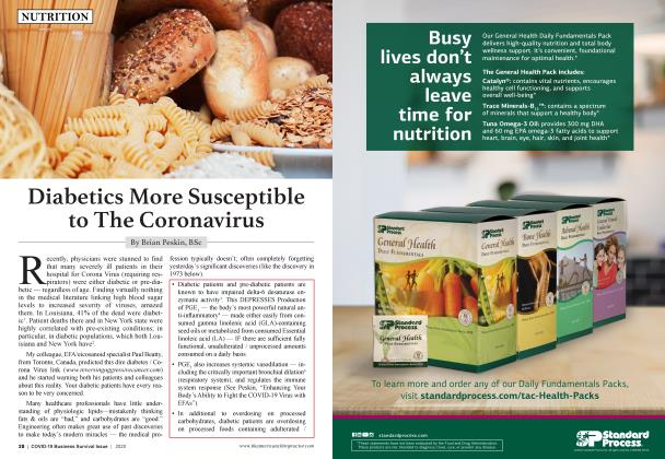 Article Preview: Diabetics More Susceptible to The Corona Virus, MAY 2020 | American Chiropractor